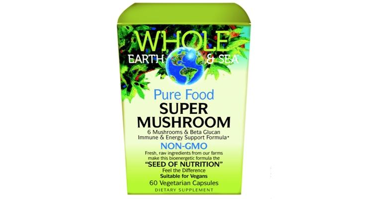 Whole Earth & Sea Pure Food Super Mushroom Features Wellmune