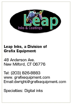 Grafix Equipment Utilizes its Equipment Expertise with Leap Inks