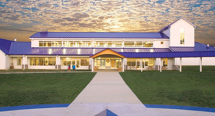 When building the Center for Courageous Kids in Kentucky, energy efficiency was top of mind.