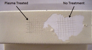 Overcoming Adhesion Failures of UV Coatings with Atmospheric Plasma Treatment