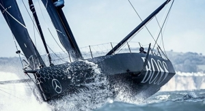 HUGO BOSS Racing Yacht All in Black Due to Functional Pigments Made by BASF