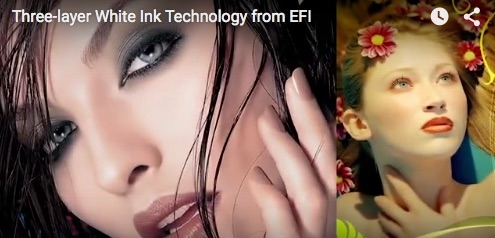 Three-layer White Ink Technology from EFI