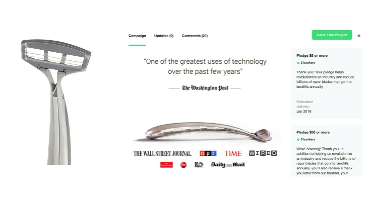 Most Expensive Razor Ever Cuts $100k Price Tag, Now $199 on Kickstarter