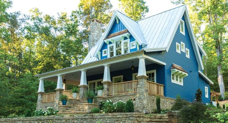 Olympic Paints and Stains Sponsors This Old House Cottage at Cloudland Station