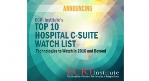ECRI's Top 10 Technological Advances to Watch in 2016