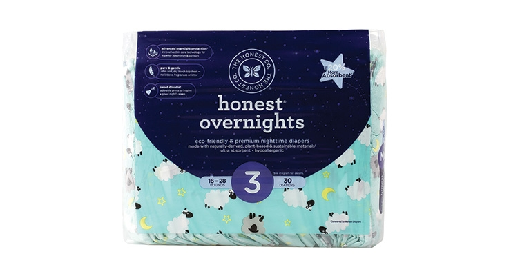 Honest Launches Overnight Diapers