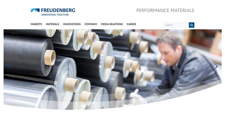 Freudenberg Performance Materials Launches New Website