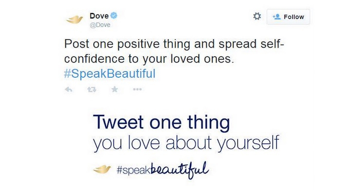 Dove's New Tweet Technology Promotes Positivity