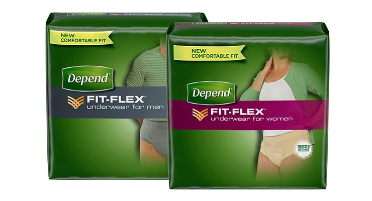 Depend Brand Improves Fit-Flex Underwear