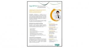 Sage ERP X3 | Pharmaceuticals & Nutraceuticals