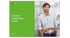 Sage X3: Solution Capabilities Guide
