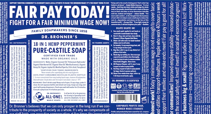 Dr. Bronner's Amps Up Fair Wage Talk