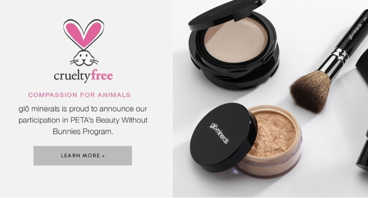 glo minerals Joins Beauty without Bunnies