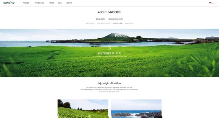 Innisfree Adds New Local Websites