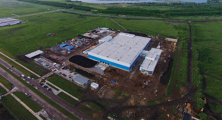 PPG's construction site  in Lipetsk Oblast