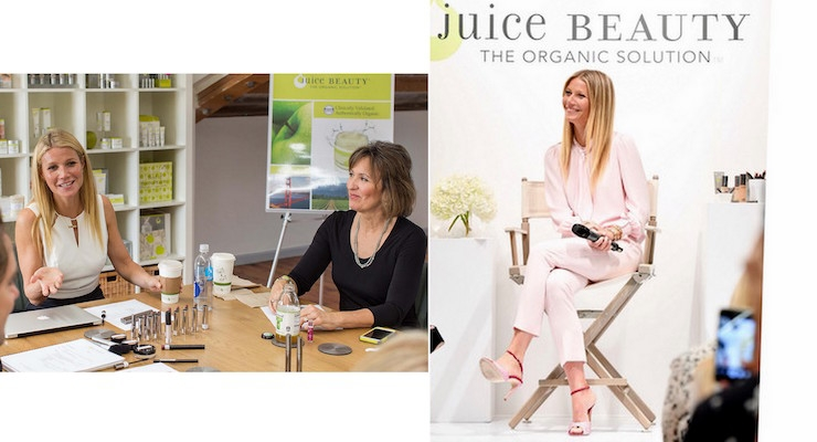 Gwyneth Paltrow Visits Holt Renfrew with Juice Beauty's Founder