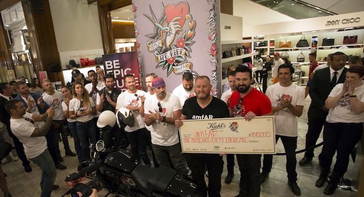 Kiehl's LifeRide for amfAR Raises $150k