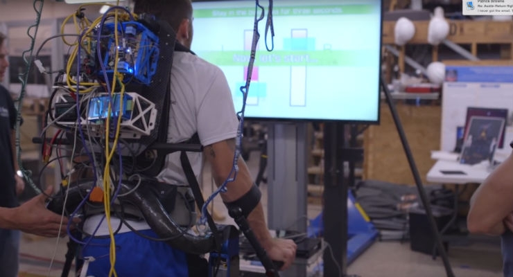 Nintendo's Wii Balance Board Trains Users on Robotic Exoskeleton