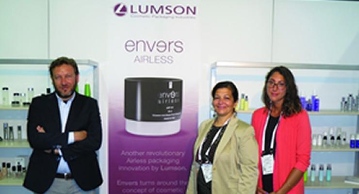 Cosmoprof NA  Lumson (L-R): Massimiliano Ticali, Maria Nikolas & Alexis Ioannou