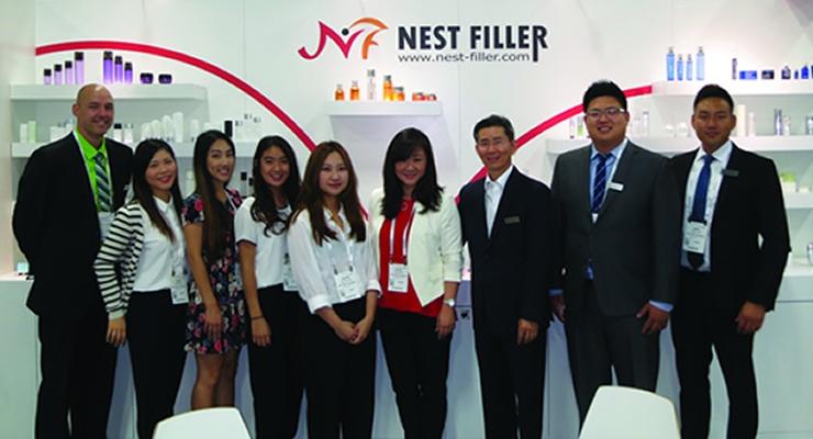 Cosmoprof NA NestFiller: Helen Min, Harlan Hayes and team.
