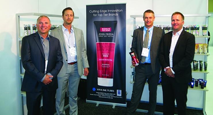 Cosmoprof NA Viva Packaging (L-R): Stephen Kapparis, Darryl Laing, Bruno Lebeault, Kyle Sheppard