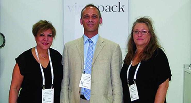 Cosmoprof NA Virospack (L-R): Shoshana Gibli, Gaetan Letellier & Joanna Milne