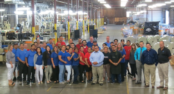 The Mepco Label team at its 174,000 square foot facility in Lodi, CA.