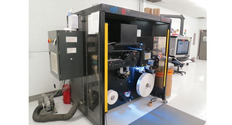 The EFI Jetrion UV inkjet press