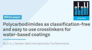 Polycarbodiimides as classification-free and easy to use crosslinkers for water-based coatings