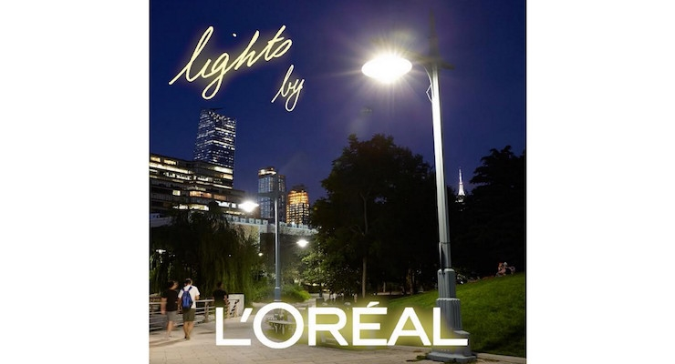 L'Oreal Lights Up 4 Miles of Hudson River Park