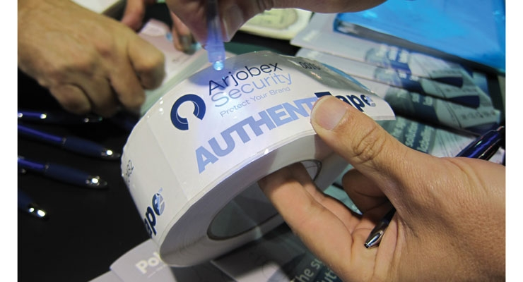 Arjobex focused on innovations in security labels and ensuring brand authenticity at the recent Labelexpo Americas 2016.