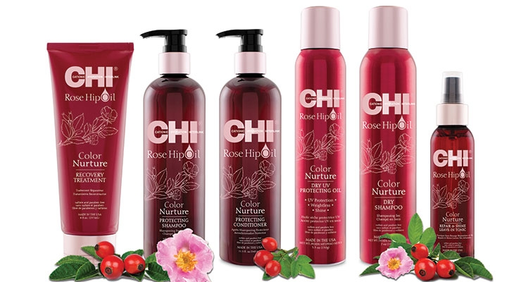 Rose hip is a key ingredient in the new Chi collection