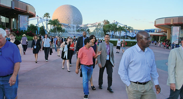 IFSCC Congress delegates get ready for a night of fun at Epcot Center.