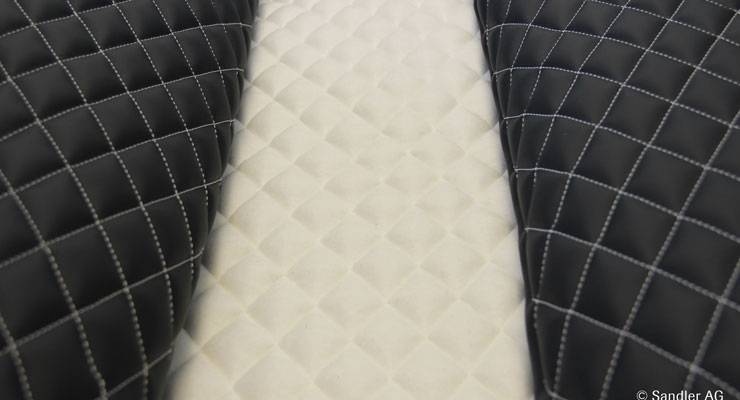 Sawaloom needlepunched nonwovens from Sandler are used in seat upholstery.