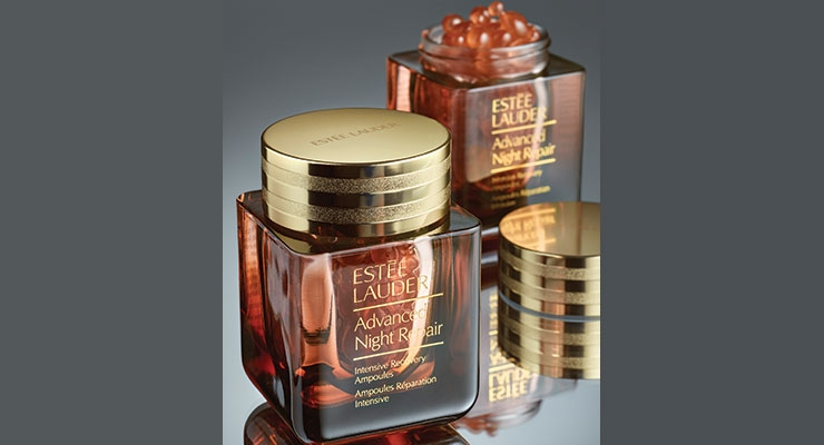 Anomatic combined several finishing techniques for  Estée Lauder's Advanced Night Repair Intensive Recovery Ampoules.