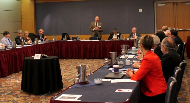 CPMA president John Marten addresses the CPMA membership during the 87th Annual Meeting.