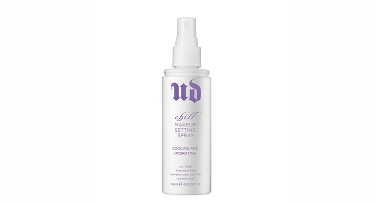 The new black and purple makeup setting spray bottles replace the former white and purple combination.
