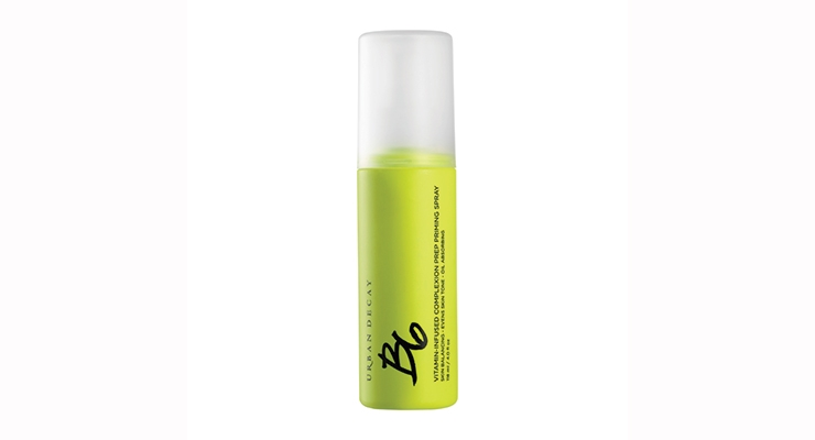 The bottle for the B6 spray was updated from purple packaging to neon green.