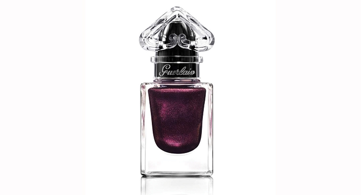 Guerlain's La Petite Robe Noir Nail Collection features a bespoke, upside-down heart inspired by the brand's namesake fragrance bottle.