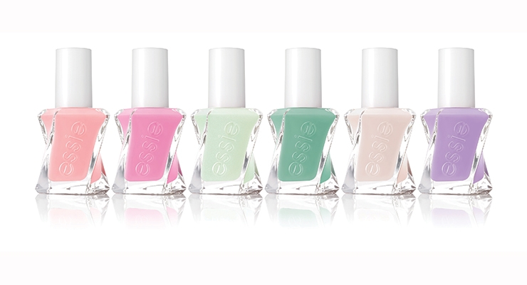 Essie's new Gel Couture line is housed in a swirling  new bottle with a twisted stem brush.