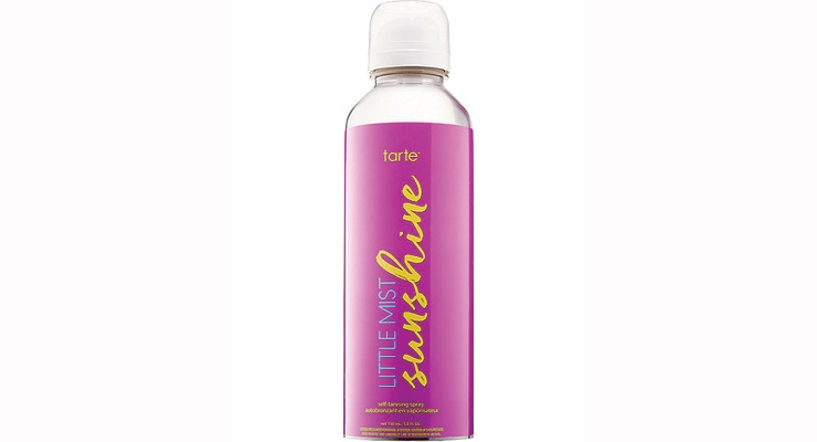 Tarte launched Little Mist Sunshine Self-Tanning Spray using a clear, 150ml non-aerosol Airopack system.