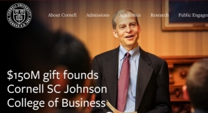 SCJ Donates $150 Million To Cornell