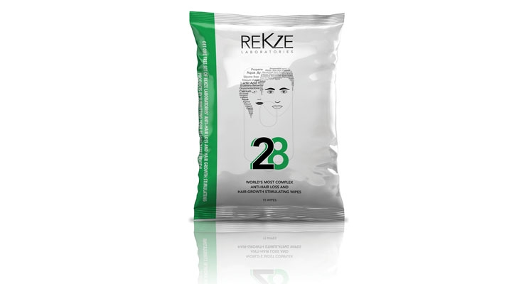 Rekze's new '28' scalp wipes create optimal conditions for hair growth.