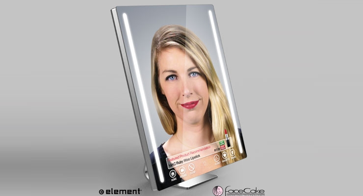 Element teamed with FaceCake to launch a smart mirror at CES.