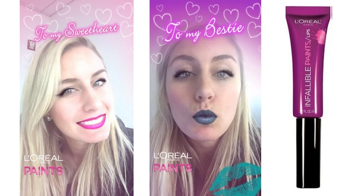 L'Oreal Paris Creates Branded Snapchat Lens for Valentine's Day