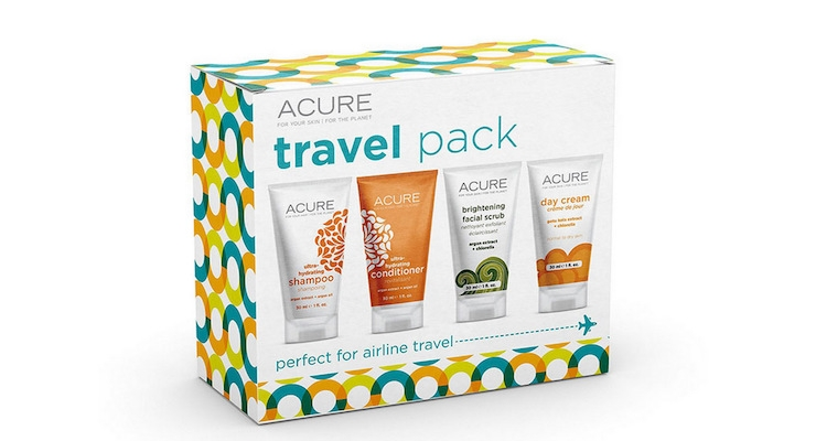 Acure's New Travel Pack Is Filled with TSA-Approved Tubes