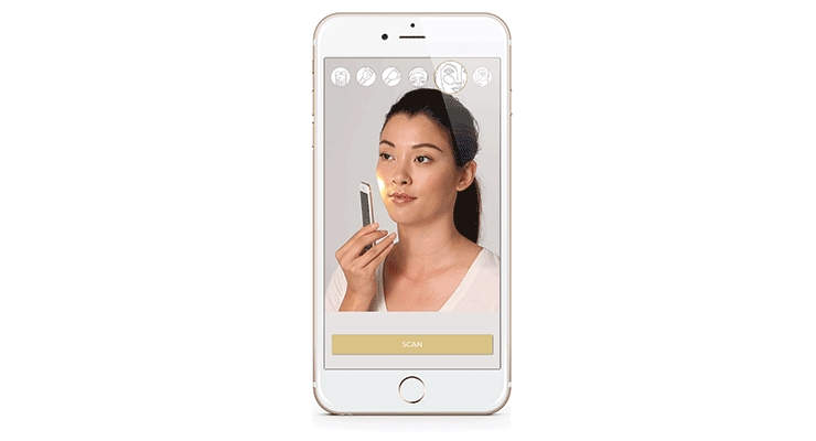 Scan your face for a customized foundation match.