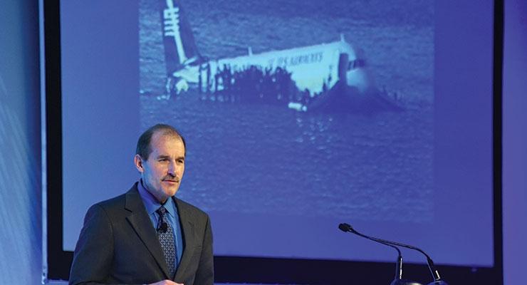 ACI keynote speaker Jeff Skiles, co-pilot, US Airways Flight 1549.