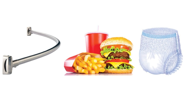 What do Shower Curtain Rods, Fast Food and Incontinence Products Have in Common?
