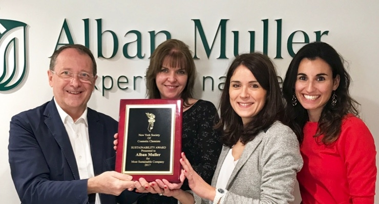 Alban Muller Honored For Sustainability Efforts